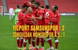 Yılport Samsunspor : 2 – Zonguldak Kömürspor...