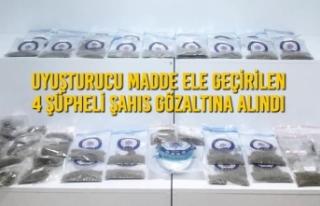 Samsun'da Uyuşturucu Madde Ele Geçirilen 4 Şüpheli...