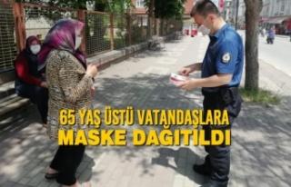 65 Yaş Üstü Vatandaşlara Maske Dağıtıldı