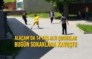 Alaçam'da 14 Yaş Altı Çocuklar Bugün Sokaklara...