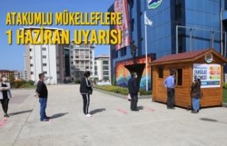Atakum Belediyesi'nden Vergi Ödemelerinde Son Gün...