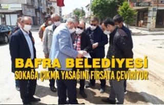 Bafra Belediyesi Sokağa Çıkma Yasağını Fırsata...