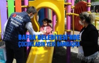 Bafra Belediyesi'nde Çocukların Yeri Bambaşka