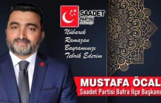 Başkan Mustafa Öcal'dan Bayram Kutlaması