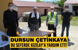 Dursun Çetinkaya; Bu Seferde Kızılay'a Yardım...