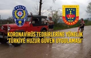 Koronavirüs Tedbirlerine Yönelik 'Türkiye Huzur...
