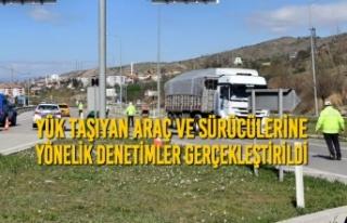 Samsun'da Yük Taşıyan Araç ve Sürücülerine...