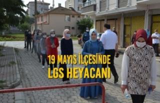 19 Mayıs İlçesinde LGS Heyecanı