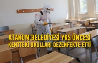 Atakum Belediyesi YKS Öncesi Kentteki Okulları Dezenfekte...