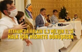 Atakum'da Halkın 6,3 Milyon TL'si Halk İçin...