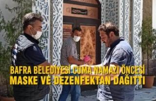 Bafra Belediyesi Cuma Namazı Öncesi Maske Ve Dezenfektan...
