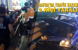 Bafra'da Trafik Kazası 2 Kişi Yaralı