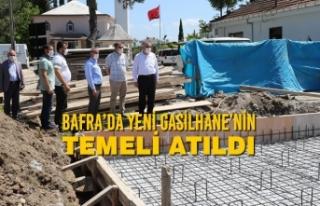 Bafra'da Yeni Gasilhane'nin Temeli Atıldı