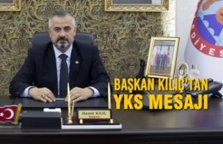 Başkan Hamit Kılıç'tan YKS Mesajı