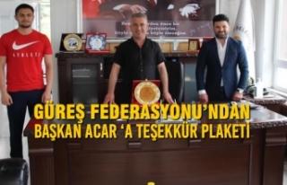 Güreş Federasyonu'ndan Başkan Acar 'A Teşekkür...
