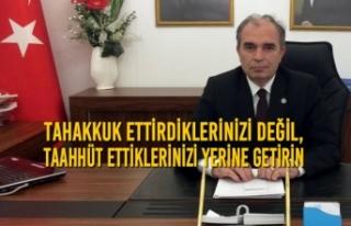 İYİ Parti İlçe Başkanı Yılmaz'dan SASKİ'ye...