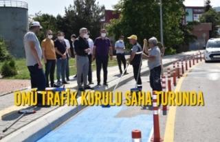 OMÜ Trafik Kurulu Saha Turunda