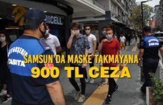 Samsun Büyükşehir Belediyesi Zabıtaları Maske...