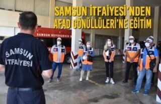 Samsun İtfaiyesi'nden AFAD Gönüllüleri'ne...
