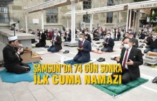 Samsun'da 74 Gün Sonra İlk Cuma Namazı