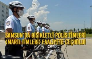 Samsun'da Bisikletli Polis Timleri (Martı Timleri)...