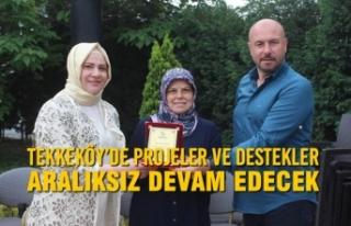 Tekkeköy'de Projeler ve Destekler Aralıksız Devam...