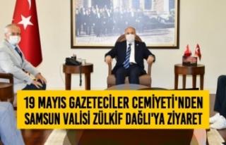 19 Mayıs Gazeteciler Cemiyeti'nden Vali Zülkif...