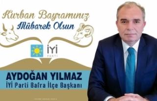 Aydoğan Yılmaz'dan Kurban Bayramı Mesajı