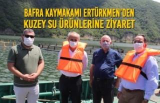 Bafra Kaymakamı Ertürkmen'den Kuzey Su Ürünlerine...