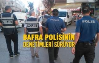 Bafra'da Polisin Denetimleri Sürüyor