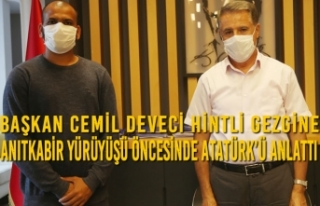 Başkan Cemil Deveci Hintli Gezgine Anıtkabir Yürüyüşü...