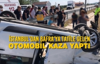 İstanbul'dan Bafra'ya Tatile Gelen Araç Kaza...