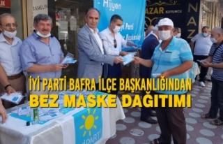 İyi Parti Bafra İlçe Başkanlığından Bez Maske...