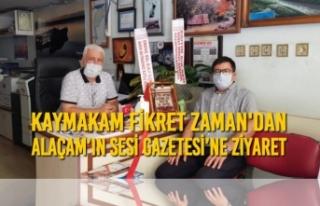 Kaymakam Zaman'dan 'Alaçam'ın Sesi Gazetesi'ne...