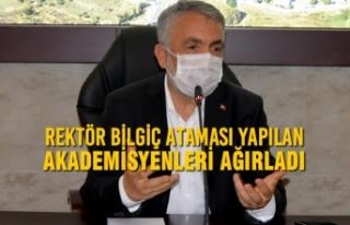 Rektör Bilgiç Ataması Yapılan Akademisyenleri...