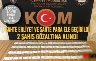 Sahte Ehliyet ve Sahte Para Ele Geçirildi 2 Şahıs...
