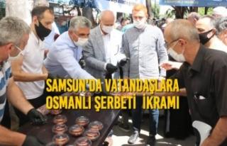 Samsun'da Vatandaşlara Osmanlı Şerbeti