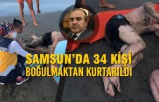 Samsun'da 34 Kişi Boğulmaktan Kurtarıldı
