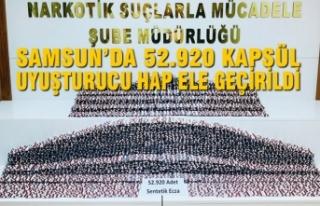 Samsun'da 52.920 Kapsül Uyuşturucu Sentetik Hap...