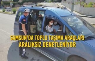 Samsun'da Toplu Taşıma Araçları Aralıksız...