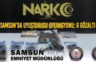 Samsun'da Uyuşturucu Operasyonu; 6 Gözaltı