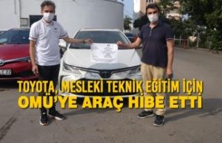 Toyota, Mesleki Teknik Eğitim için OMÜ'ye Araç...