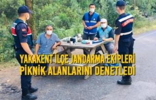 Yakakent İlçe Jandarma Ekipleri, Piknik Alanlarını...