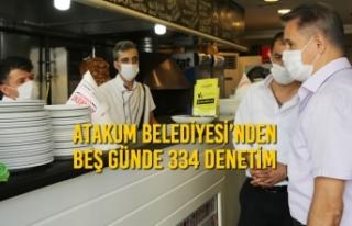 Atakum Belediyesi'nden Beş Günde 334 Denetim