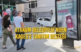 Atakum Belediyesi'nden KADES'e Tanıtım Desteği