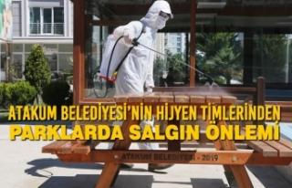 Atakum Belediyesi'nin Hijyen Timlerinden Parklarda...