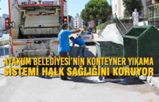 Atakum Belediyesi'nin Konteyner Yıkama Sistemi...