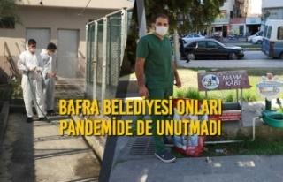 Bafra Belediyesi Onları Pandemide De Unutmadı