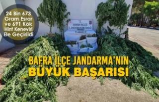Bafra İlçe Jandarma'nın Büyük Başarısı