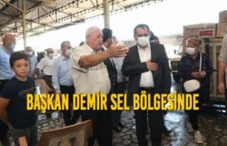 Başkan Mustafa Demir Sel Bölgesinde